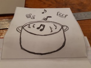 drawing of pot to transfer