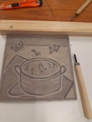 my linocut and tool