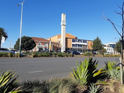 view of arts centre from over the road