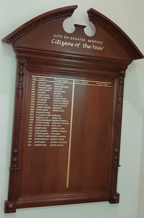 ciizens of the year plaque