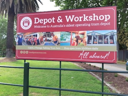 depot and workshop sign
