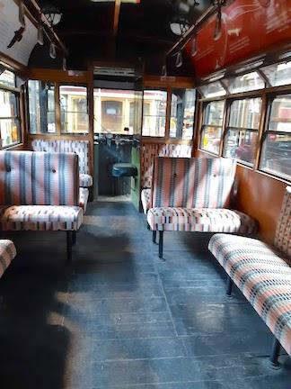 inside aboriginal tram
