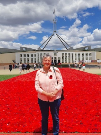 me in front of poppies parlt
