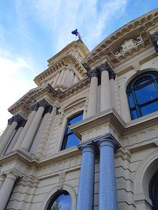 outside town hall architectural features