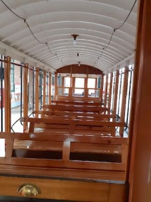view of seating on another tram