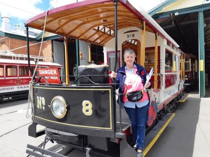 yours truly on no 8 tram