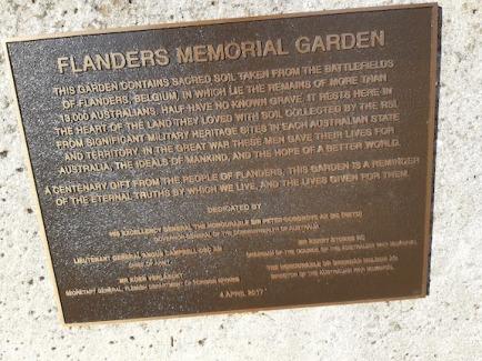 info flanders memorial garden'