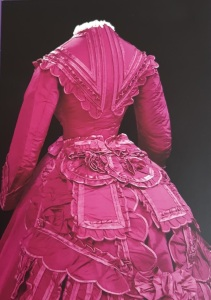 dress with bustle