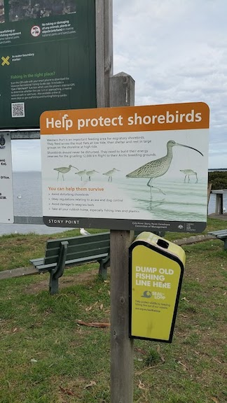 sign to protect shorebirds 2018