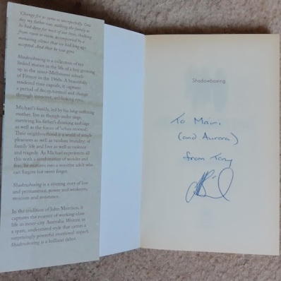 signed book from tony birch