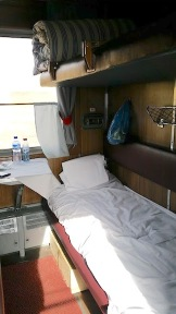 berth on train Siberia trip