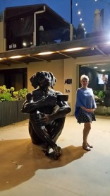 dog sculpture and lorraine