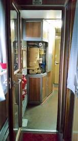 hot water station on train