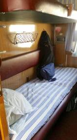 my berth on train Mongolia