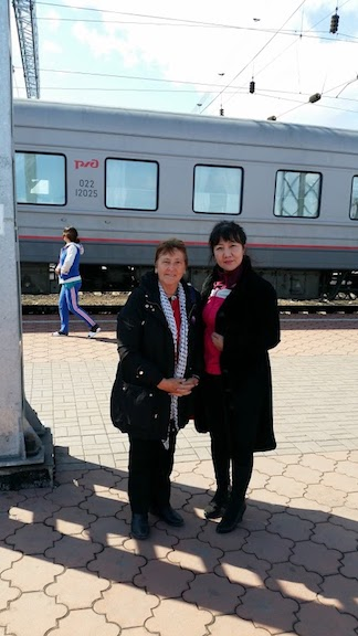 Nara, a new friend on way to Russia