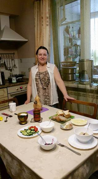 Olga and prepared meal
