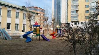 playground in housing estate mongolia