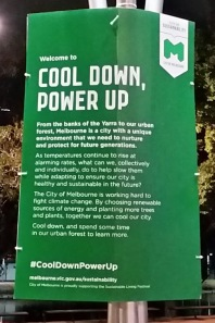 cool down and power up sign