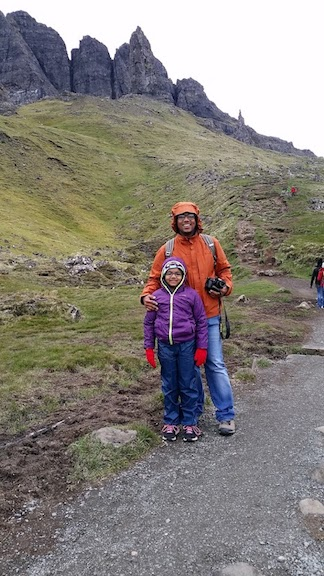 dad and daughter visiting from India old man storr.jpg