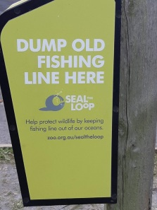 dump fishing line sign
