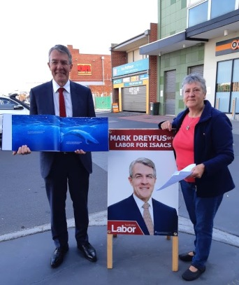 me and mark dreyfus with book