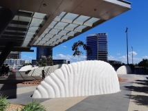 river sculpture docklands 3