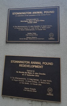 animal pound plaques