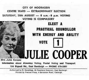 Julie Cooper HTV card
