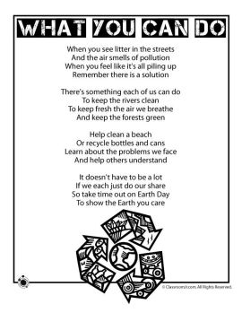 poem about recycling