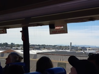 view from bus window