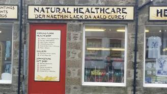 healthcare shop window