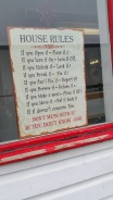 house rules sign - funny