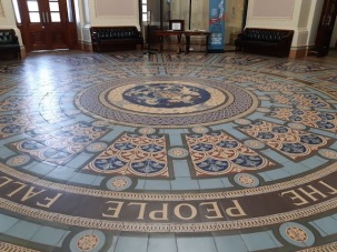 tile design on the floor parlt