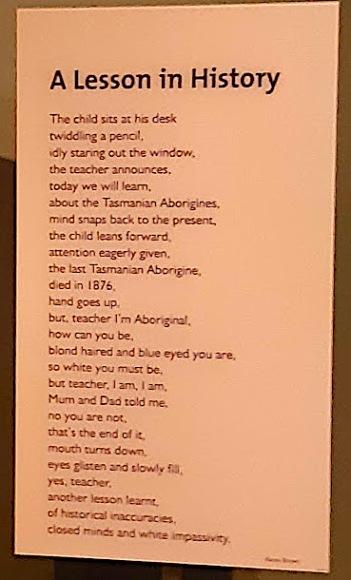 a lesson in history poem tasmania