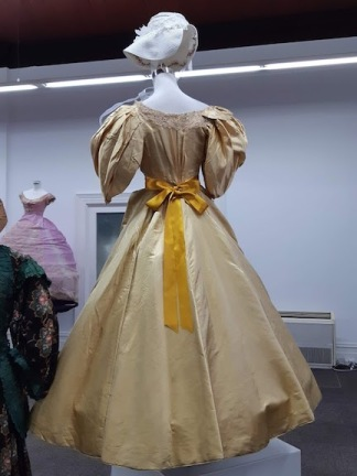 back of gold dress