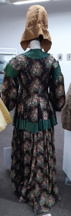 back view of old dress