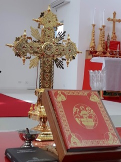 bible and gold cross