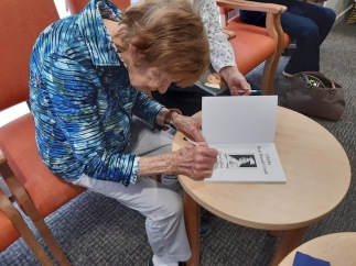 edna signing her book