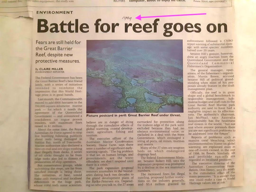 batttle for reef 1999