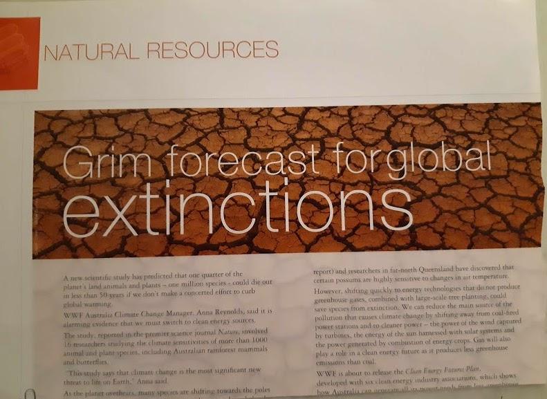 grim forecast for global extinctions 2004