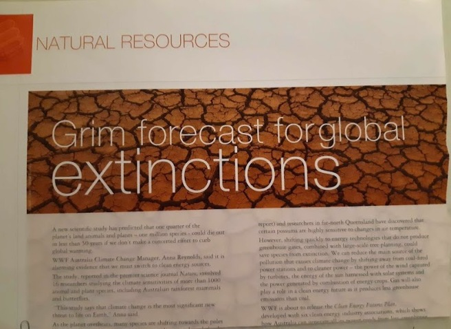 grim forecast for global extinctions 2004