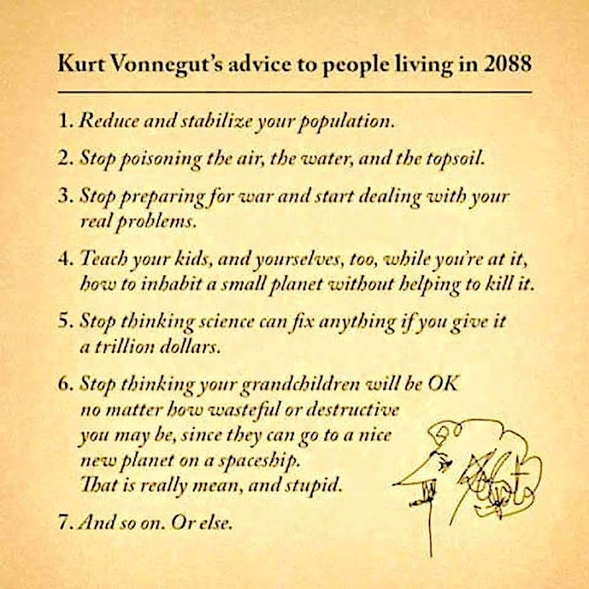 Kurt Vonnegut advice 2088