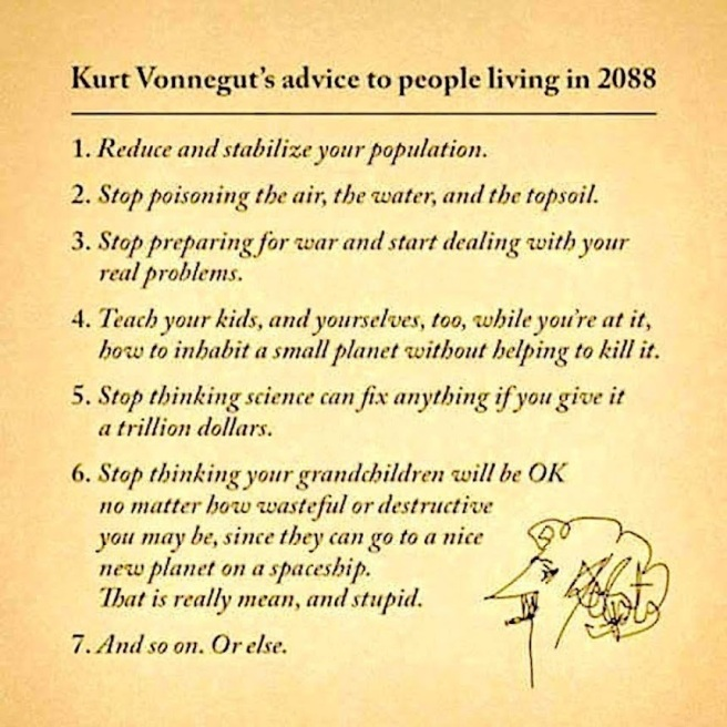Kurt Vonnegut advice 2088