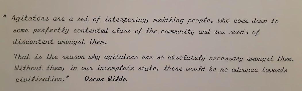 quote about agitators copy