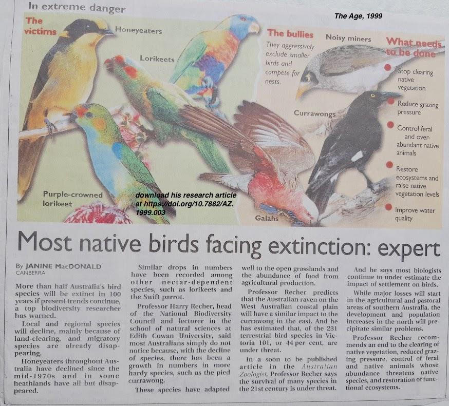 birds already facing extinction