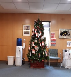 christmas tree cabrini foyer