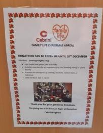 donations cabrini poster