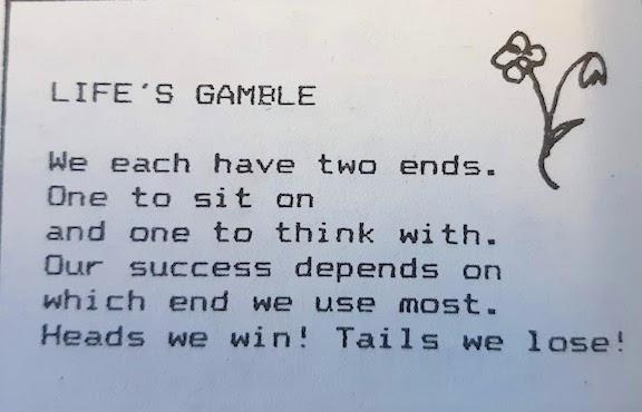 Life's gamble