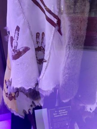 close up possum skin cloak
