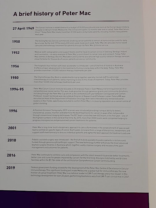 peter mac history timeline